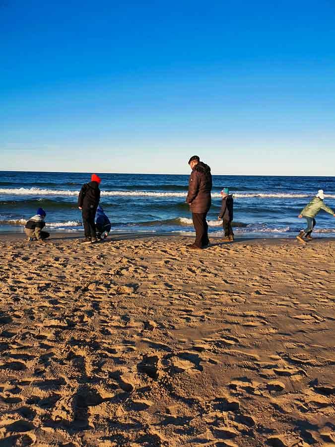 Vorgezogene Osterferien aam Strand
